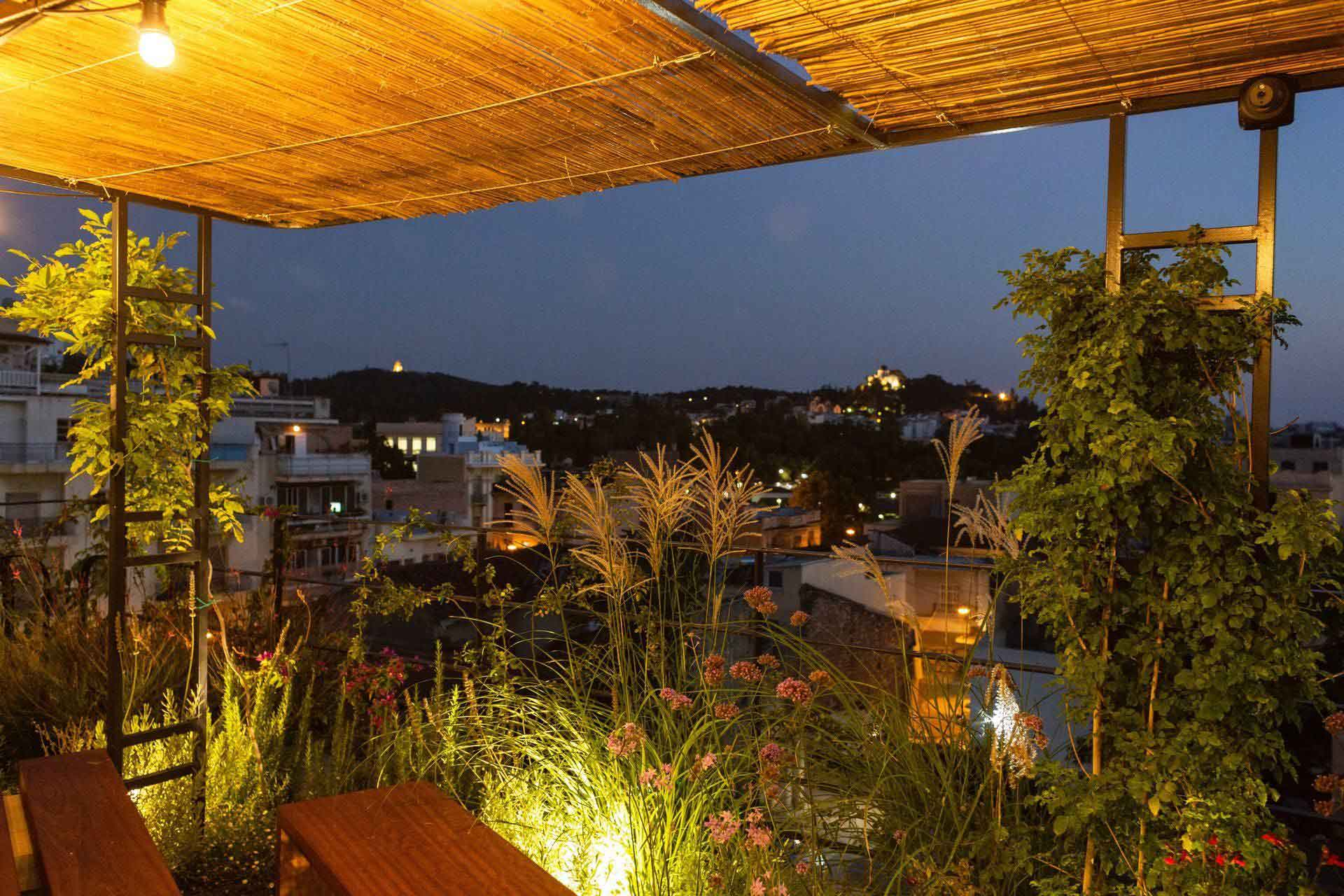 hotel in athens with rooftop pizza